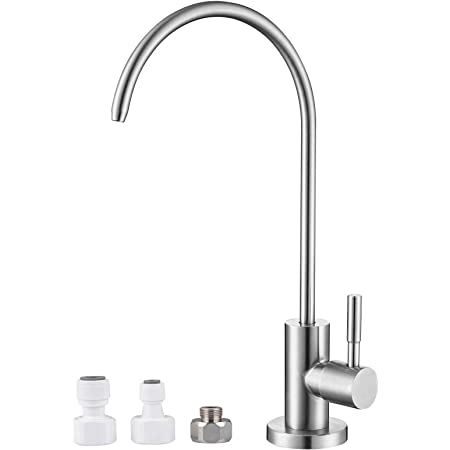 1//4/'/' Reverse Chrome Plated Kitchen Drinking Water Filter Faucet Kit US Stock