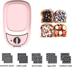 LUNAFJ Simplicity Multi-Function Waffle Maker Iron Machine Non-Stick Omelette Pan Toaster Egg Maker Double-Sided Baking Panini and Toasted Sandwich Plates Easy To Clean (Color : Pink)