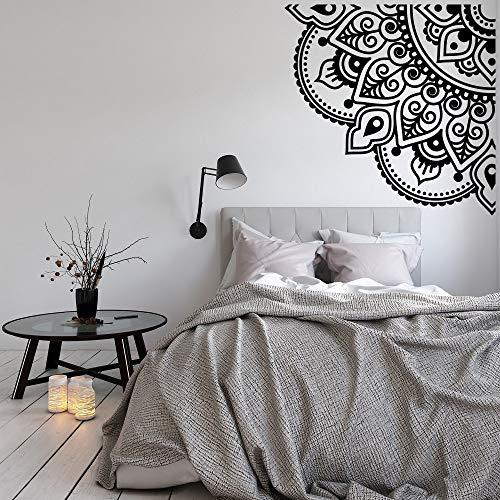 Cuarto de Mandala calcomanía de pared Mandala etiqueta de la pared dormitorio meditación decoración esquina Mandala papel tapiz arte de pared A8 42x42cm