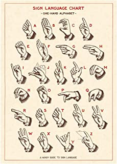Cavallini Papers & Co. Inc, Sign Language Chart, 20x28 inches (WRAP/SIG)