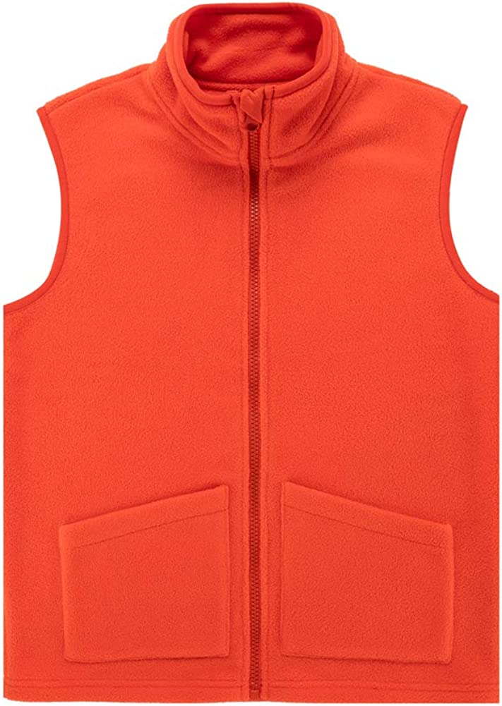 UNACOO Kids Boy's and New products world's highest quality popular Import Girl's Soft Vest Fleece with Cozy Clas