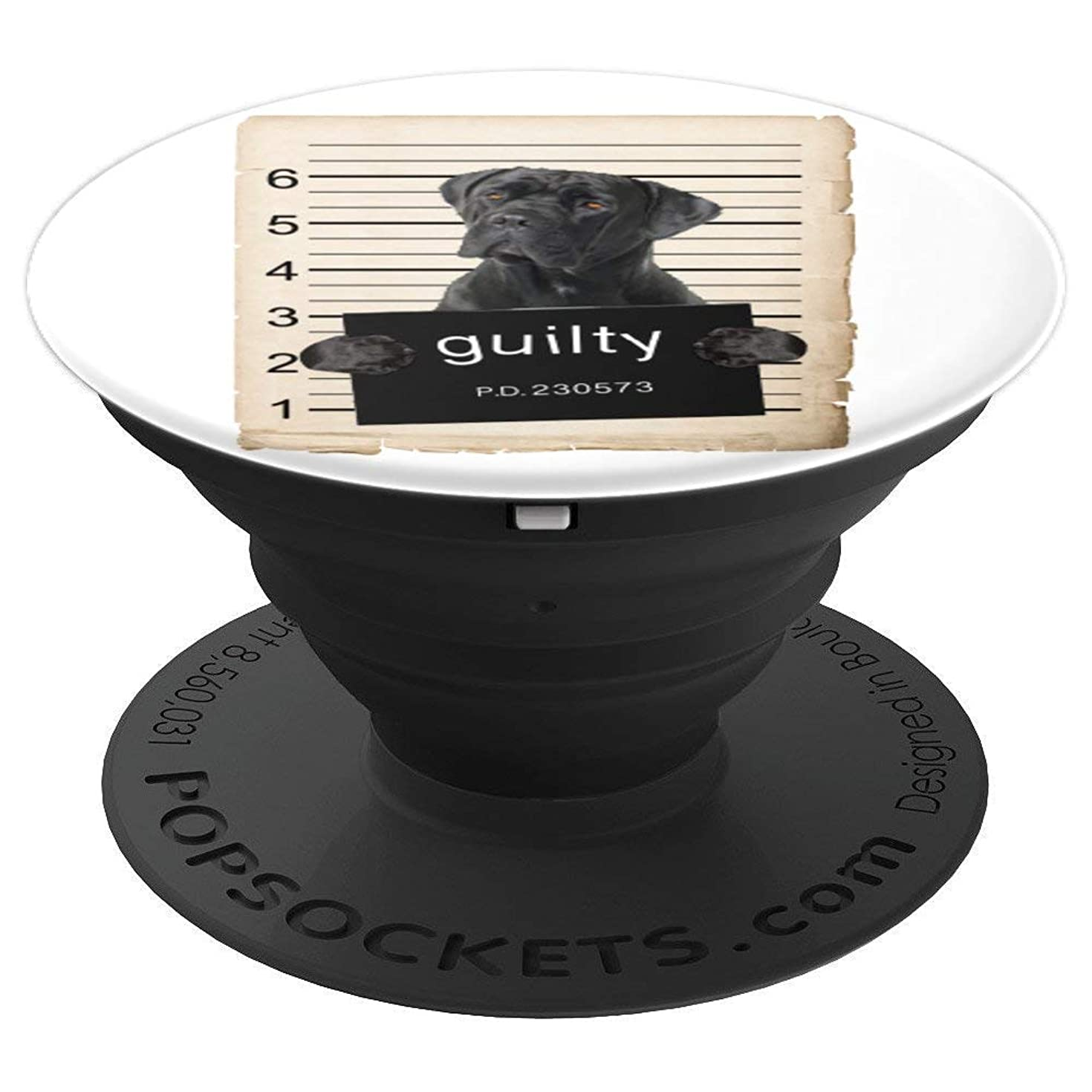 Cane Corso Dog mug shot Bad Dog - PopSockets Grip and Stand for Phones and Tablets