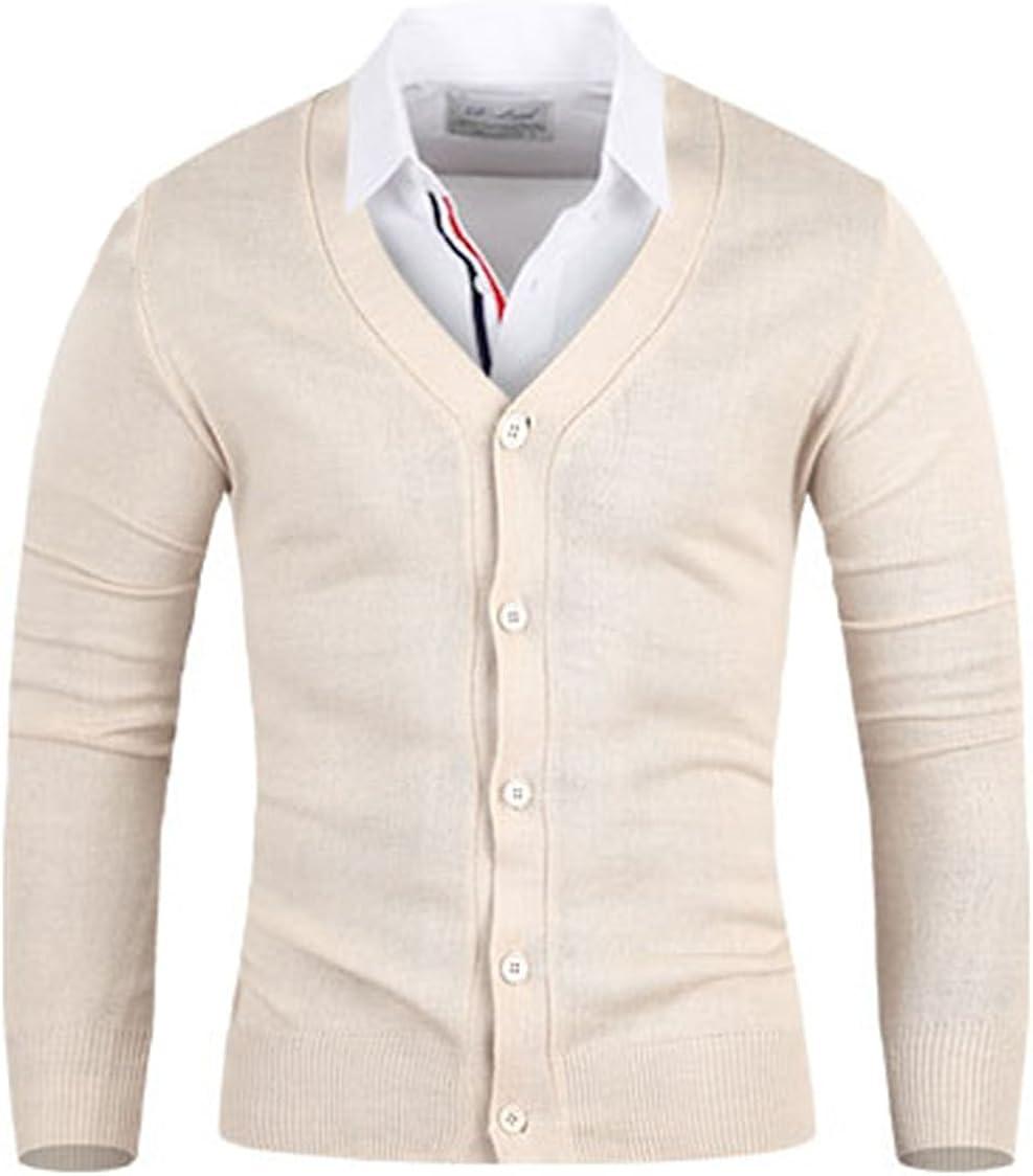 Men's Coloration Knit Cardigan Sweater Jumper Top