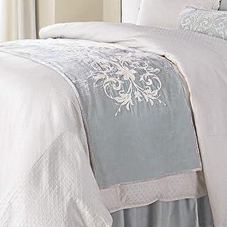 HiEnd Accents Belle Washed Velvet Bed Runner, 24