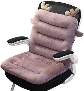 Yzzlh Cojín de respaldo alto de 8 cm, cojín de silla de jardín con almohadilla de asiento y respaldo, cojines de silla con correas para interior y exterior, jardín, oficina, sala de estar (85 x 45 cm)