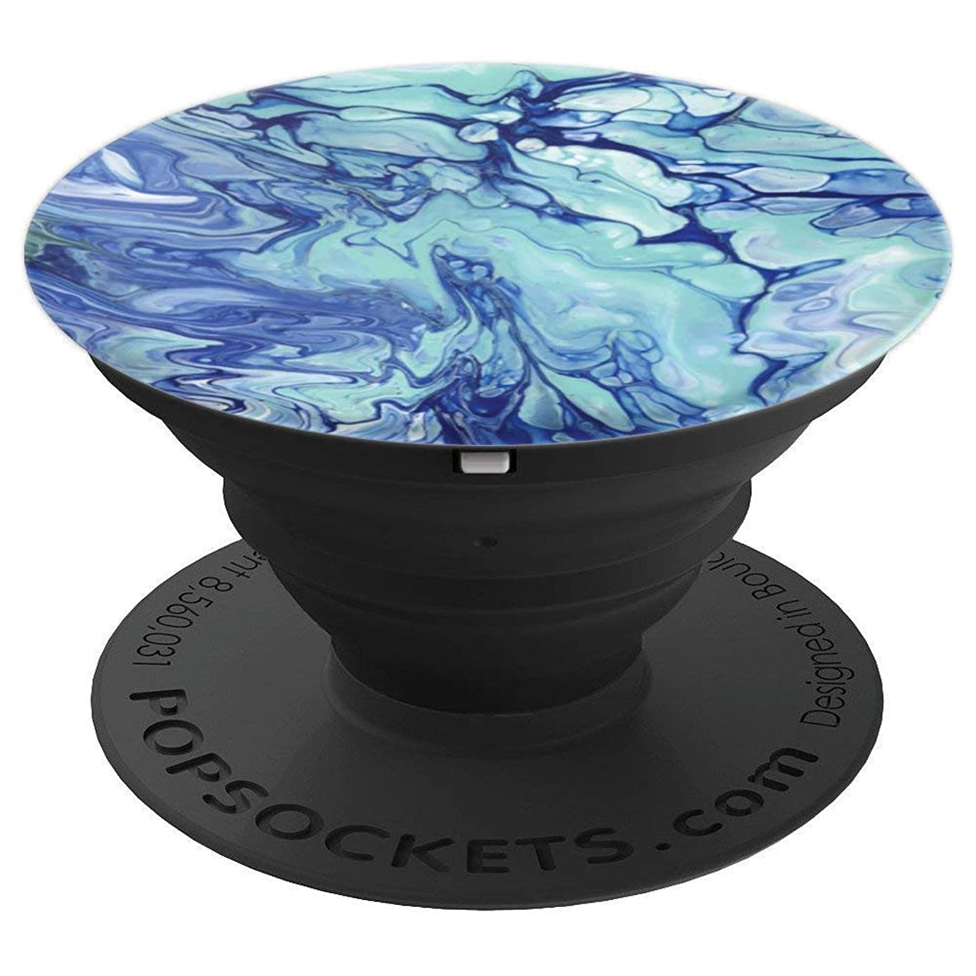 Teal Blue Marble - PopSockets Grip and Stand for Phones and Tablets