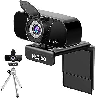 1080P Webcam with Mini Tripod Kits, NexiGo FHD USB Web Camera with Microphone & Privacy Cover, Extendable Tripod Stand, fo...