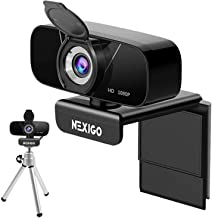 1080P Webcam with Mini Tripod Kits, NexiGo FHD USB Web Camera with Microphone & Privacy Cover, Extendable Tripod Stand, fo...