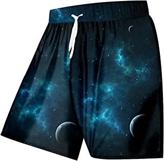 Renost Men's Swim Trunks Quick Dry Surfing Shorts With Drawstring Plus Size 3d Print Shorts