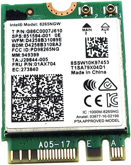 INTEL 8265NGW Dual Band Max 81% OFF Max 41% OFF Wireless-AC 4.2 Bluetooth WLAN WiFi 8265