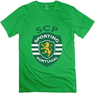 Sporting Lisbon 100% Cotton Tee Shirts for Mens