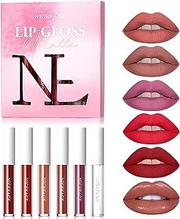 6PCS Matte Lipstick with Lip Plumper, COOSA Makeup Lipsticks Set Professional Waterproof Long Lasting Velvet Lip Gloss for Women Girls