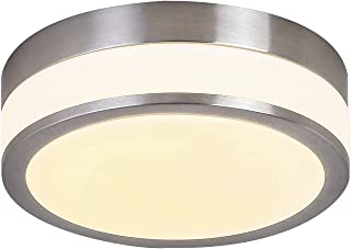 Glass LED Flush Mount Lighting Auffel Minimalist Close to Ceiling Light Fixture Dimmable 3000K Warm White 1980LM Round Chandelier Décor Yellow Lighting for Bathroom,Bedroom,Hallways,Corridor