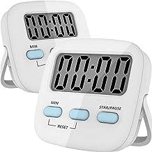 TECHVIDA Temporizador Digital de Cocina, Cronometro de Cocina, Uso Simple, Base Magnética, Dígitos Grandes, Temporizador d...