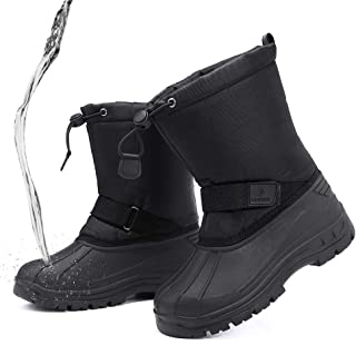 Kids Snow Boots, Boys Girls Winter Boots Waterproof Snow Shoes Cold Weather Outdoor Boots(Toddler/Little Kid/Big Kid)