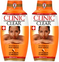 Clinic Clear Whitening Body Lotion 16.9oz (Pack of 2)
