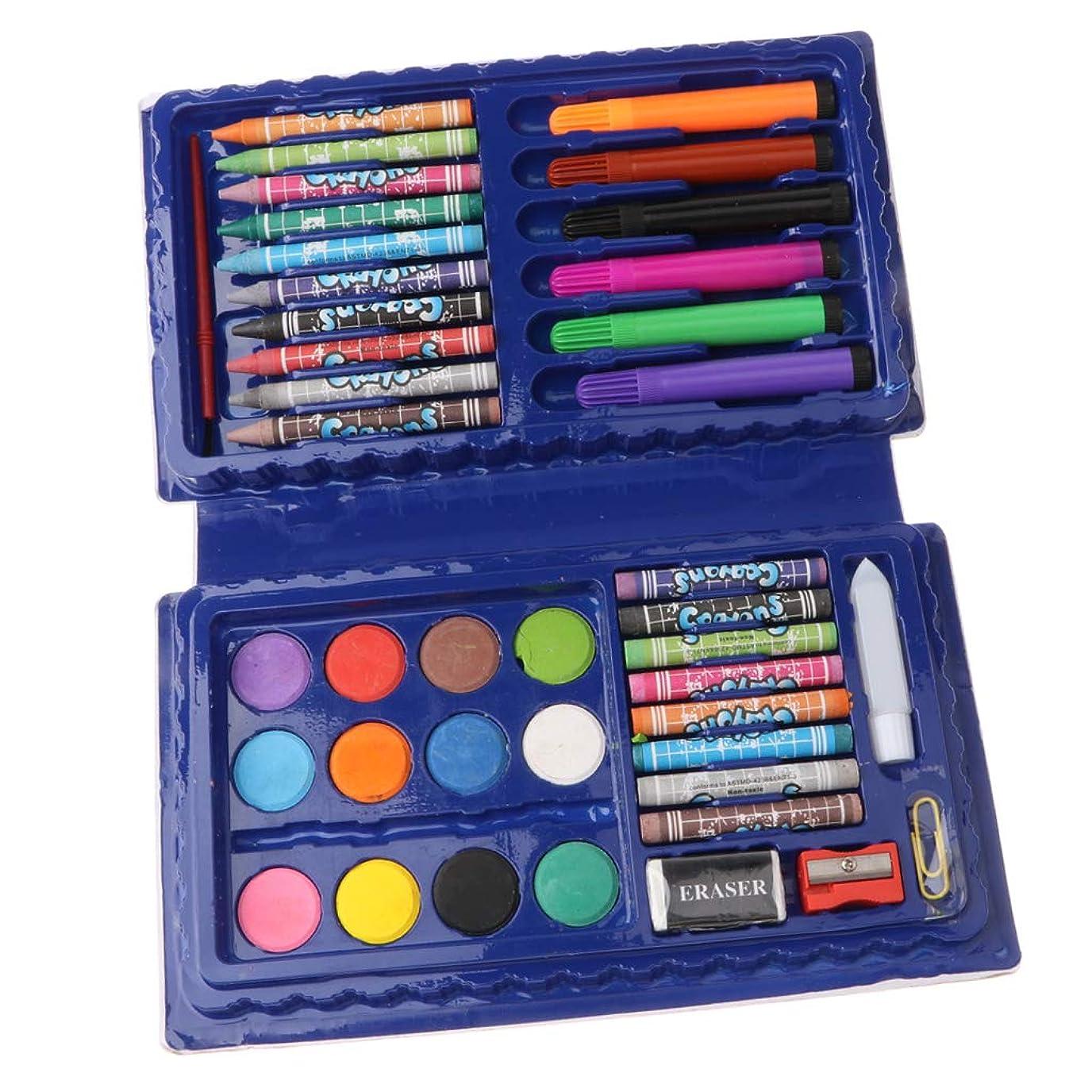 行進進化階層Toygogo 42個の図面キット - 青のケースで絵を描くための美術用品 - ブルー
