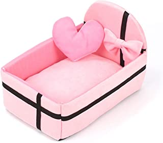 Pet Dog House Nest with Mat Cute Plush Cushion Winter Warm Small Medium Dogs Pet Kennel Removable Mattress Cat Bed Puppy DB618