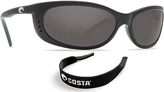 Costa Del Mar Fathom Black - 580G Dk Gray Glass w/ Free Costa Neoprene Classic B