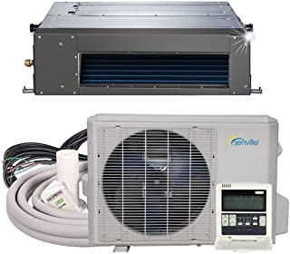 Senville SENA-24HF/ID Concealed Duct Mini Split Air Conditioner Heat Pump, 24000 BTU, Off-White