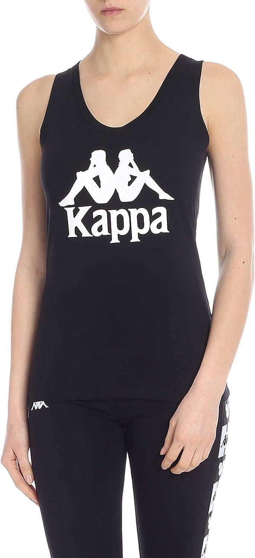 Kappa Women's 303NKW0930 Black Cotton Tank Top