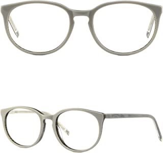 8e05949b1a0 Womens Acetate Frame Round Cute Cateye Light Glasses Keyhole Spring Hinges  White