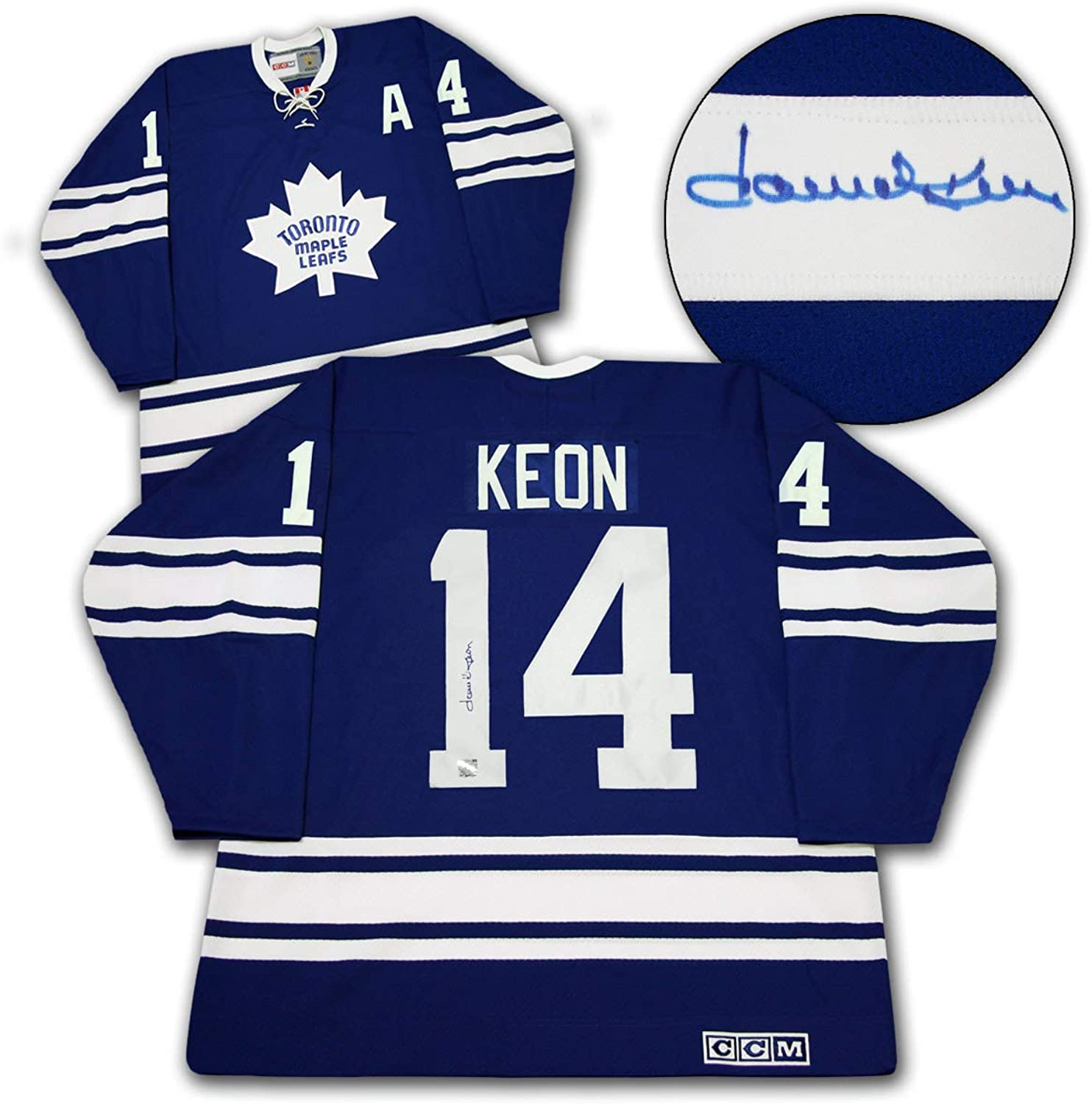 Dave Keon Tgoldnto Maple Leafs Signed 1967 Stanley Cup CCM Vintage Hockey Jersey