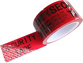 "1 Roll 100% Total Transfer Tamper Evident Security Void Tape (Red 2"" x 55yds x 2mil- TamperSeals)"