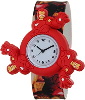 Kids Watches 3D Cute Cartoon Spinner Rotating Case Waterproof Silicone Slap On Band Arabic Numerial Dial Children Toddler Wristwatches Time Teacher Gifts Boys Girls Little Child Fashion Style Watches