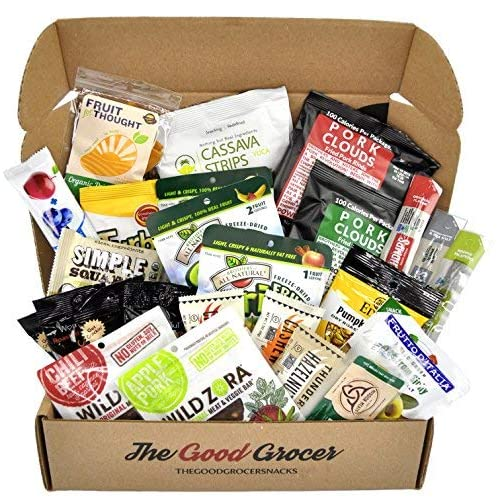 PALEO Healthy Snacks Care Package (25 Ct): Protein Energy Bars, Grass Fed