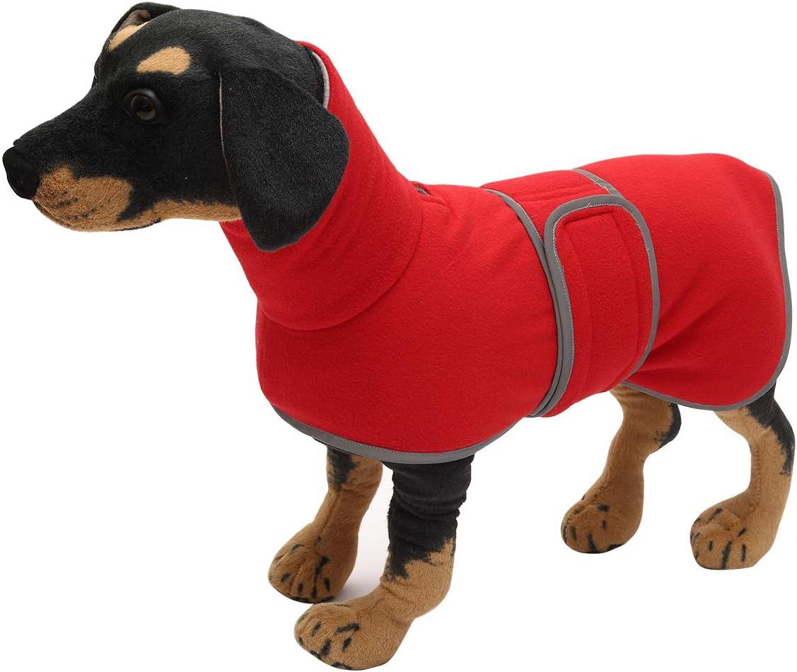 Morezi S Abrigo de perro para perros de corral traje de nieve para perro con bandas ajustables Gris ideal para perros salchichas con forro polar acolchado y cuello alto