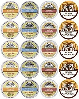 20-count GROVE SQUARE CAPPUCCINO Variety Sampler Pack, Single-Serve Cups for Keurig-Compatible Brewers