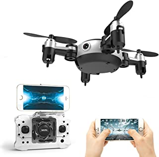LUCKSTAR 2.4GHz Foldable Control Remote Quadcopter - Mini 4-axis Aircraft Unmanned Aerial Vehicles WIFI Phone/Remote Control Intelligent Aerial Camera Foldable Pocket Morphing Aircraft Model (Black)