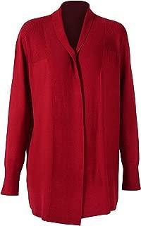 DEEBAI Women's Lightweight Open Front Long Sleeve Soft Knit Mid-Length Sweater Cardigan