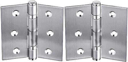 """Scharnier Folding Butt Scharnier Hardware Deur Scharnieren voor Huishoudelijke Kast Deuren, 2,5 """"(2 Packs)"""