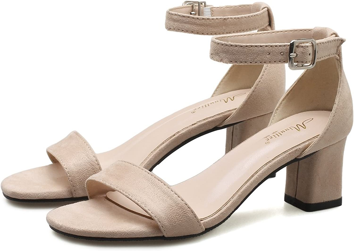 GAOLIM Dew-Slotted Strap Sandals, With Thick With High Heels Sandals Women Summer Women shoes