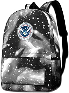 Chrrsty Ash Department of Homeland Security Star Backpack for Men and Women Students Bag
