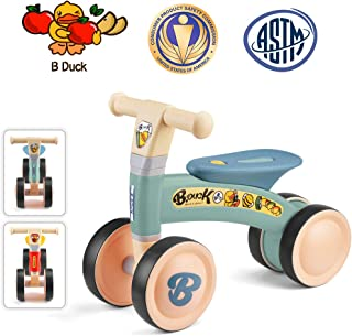 Luddy Baby Balance Bikes, Mini Bike Bicycle, Children Walker Toys Rides for 12-24 Months No Pedal Infant 4 Wheels Toddler Bike