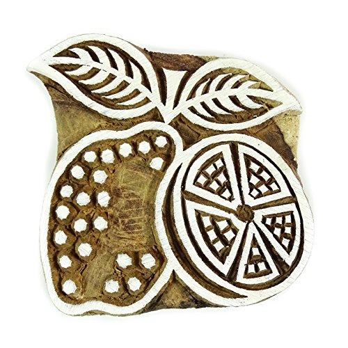 Fruit Impression Textile Bloc poterie Timbres Timbres Blockprint Indienne Bois