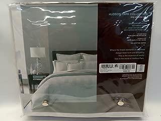 Hudson Park Woven King Comforter Cover 600 Thread Count 100% Egyptian Cotton Silver Stripe