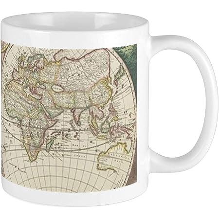 Man of The World Black World Map Enamel Mug New