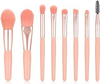 Makeup Brushes 8 Pieces Makeup Brush Set Cosmetics Professional Face Powder Foundation Blush Eyeshadow Makeup Brush Tool Travel Size (Pink)