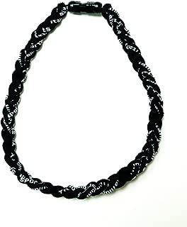 Black Tornado New Sports Ionic Titanium Germanium Baseball Style Necklace