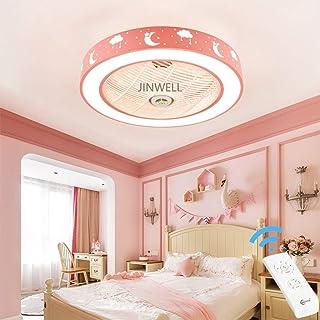 Nueva habitación infantil moderna invisible luz del ventilador creativo simple ventilador de techo luz del techo niño niña dormitorio sala de estar de dibujos animados silencio de ventilador luz