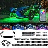 LEDGlow 20pc Bluetooth Advanced Million Color LED Accent Underlow Lighting Kit Compatible with Polaris Slingshot - Smartphone App - Brake Lights Feature - Waterproof Control Box - Flexible Strips