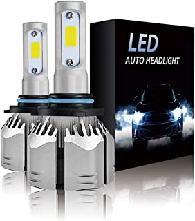 9006 LED Headlight Bulbs 6500k 12000LM Extremely Bright HB4 Car bulbs All- in -One Aluminum COB Chips Conversion Kit (2-PACK)