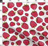 Erdbeere, Beere, Obst, Handgemalt, Sommer Stoffe -