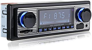 Vintage Classic Bluetooth Car Stereo , FM Radio Receiver, Hands-Free Calling, Built-in Microphone, USB/SD/AUX Port, Suppor... photo