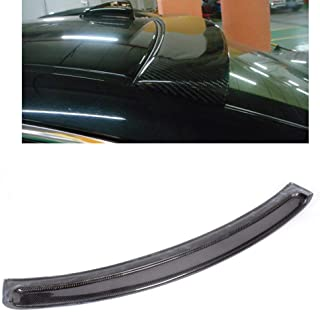 FidgetKute E90 Rear Roof Spoiler Wing H Style for BMW E90 328i 330 335i M3 Carbon Fiber
