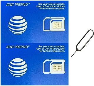 (2 Pack) Authentic AT&T ATT SIM Card Micro/Nano/Standard GSM 4G/3G/2G LTE Prepaid/Postpaid Starter Kit Unactivated Talk Te...